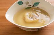とろける味わいかつ、身体の芯まであたためる『白子豆腐 白子ソース』