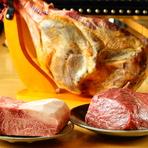 オリーブオイルと肉の焼き上がる香りのバランスが素晴らしい『ステーキ A4サーロイン』