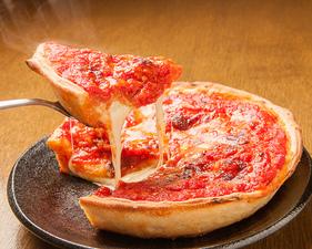 アメリカ、シカゴで人気の『シカゴピッツァ クラシカルチーズ』