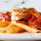 """自然の美味しさをそのままに『手打ちパスタ""""ラザニエッテ""""甘鯛とジロール茸、フレッシュトマトのソース』"""
