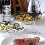 余分な脂が少ない良質な赤身肉は、健康志向の女性にも好評。熟成肉の奥深い味わいとワインに酔いしれながら、優雅な女子会を楽しみましょう。新鮮な生牡蠣やヘルシーなサラダなど、多彩なメニューも魅力。