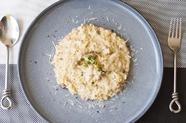 お米の食感も愉しめるように炊き上げた『ゴルゴンゾーラの玄米リゾット』