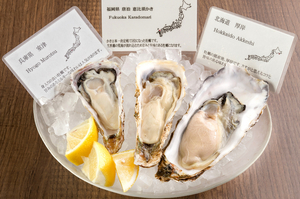 おまかせ生牡蠣の盛り合わせ 1/2doz.6P