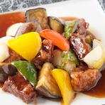 彩り野菜の黒酢豚