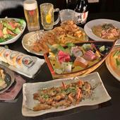 お料理8品と、さらに3時間の飲み放題がついて4000円の大満足間違いなしの宴会コースです