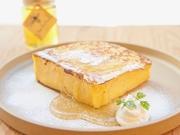 阿蘇のジャージー牛乳、福岡糸島の赤たまご、自家製の食パンで作るフレンチトーストは、24時間ほど液にしっかり漬け込んでから焼き上げます。中はトロトロふわふわで甘すぎず、食事として楽しめる一皿。 ハーフ600円