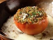 丸ごとトマトの中には、和牛たっぷりのボロネーゼがたっぷり入っています♪