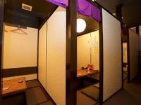 個室は、17名様までの宴会場としても利用可能です