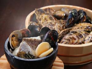 魚と貝の風味が存分に感じられる『魚貝の石焼(ノーマル)』