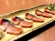 お酒と相性抜群。塩味がきいた『鯖のへしこ(福井)』