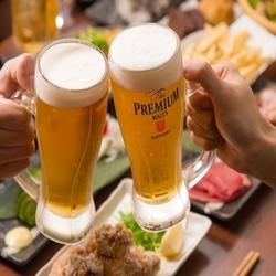 肉寿司含む全8品飲み放題付き。金土祝前日、年末年始、繁忙期以外、最大時間無制限飲み放題に変更可能。
