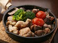 食べごたえ十分の『砂肝ともも肉のチキンアヒージョ』