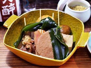 福島で唯一無二の味を目指し、試行錯誤の末に生まれた『静岡おでん盛合せ』