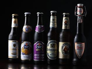 ドイツの樽生ビールや瓶ビールが充実のラインナップ