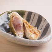 蕎麦つゆに使うかえしと、塩の2種で味わう『玉取茸』