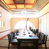 季節のお料理を上品な完全個室で