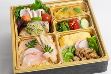 鯛のちらし寿司付き懐石弁当