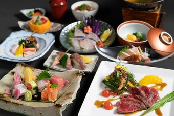 宮崎の食材を心ゆくまで楽しめるコース。