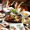 神戸ビーフのステーキがメインのコース料理