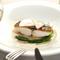 鮮魚のポワレ 二色の蕪のバーニャカウダソース(コース魚)