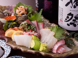 旬の魚を中心に厳選した『新鮮! 本日のお刺身盛』