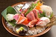 旬の魚を堪能できる2名様限定 『厳選7種盛り』