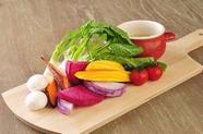 旬野菜を使った女性に大人気の『バーニャカウダ』