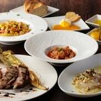 イタリア産食材と国産食材を取り入れた本場さながらの料理