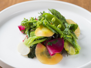 栃木・ベジファームの有機野菜を取り入れた『季節のサラダ』