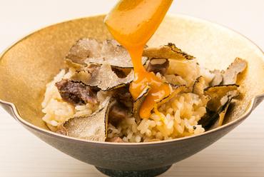 トリュフの香りと牛肉の旨味を堪能『牛トリュフご飯』