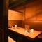扉と壁で独立した完全個室は、接待や商談にも最適