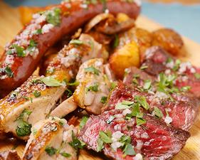 肉3種盛りとげんこつポテトフライ