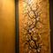 上品で迫力のある日本画の屏風など豪華なインテリア
