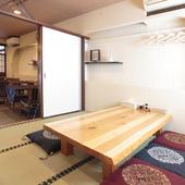 落ち着いた空間の個室で、宴会やお祝い事などのイベントを