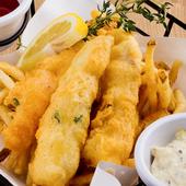 フワフワサクサクで軽い食感『真鯛を使ったフィッシュ&チップス』