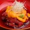 食感を楽しめる『海老の里芋コロッケ~鮭のクリームソース』
