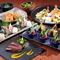 新鮮な魚、地元の野菜をたくさん使ったお料理を用意しています