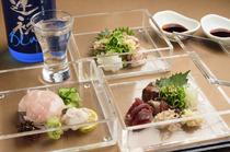 宮崎のブランド地鶏「地頭鶏」の旨味を堪能『お造り盛り合わせ』