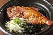 鯛を丸ごと味わえる至福の一皿『千葉県銚子産 地金目鯛 煮付』