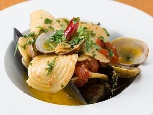モチモチした食感が特徴『ムール貝と浅利のコルツェッティ』