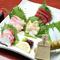 四季折々の鮮魚を贅沢に堪能する『お刺身5 種盛り合わせ』