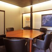 ご接待に最適のテーブル席個室