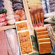 先代が鮮魚店を営んでおりましたので、当時から北海道全域の鮮魚を扱っており、今も旬の新鮮な食材にこだわり、お客様が美味しくお食事を堪能してお帰り頂けるよう、毎日精進しております。