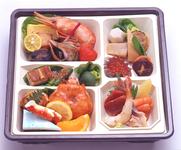 雲丹と、白菜、椎茸、ニラを玉子でとじました。