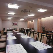 大人数の宴会・会食などにご利用下さい。 用途によりお座敷タイプ、椅子席タイプに変更可能です。