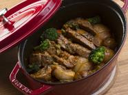 野菜と豚肉の旨みが相性抜群『国産豚肩ロースと季節やさいのあっさり煮込み』