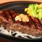肉らしい食べ応えが十分な『完熟の牛リブロースステーキ』(30日熟成)300g