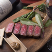 赤身と脂身の絶妙な味わい『佐賀黒毛和牛のステーキ 希少部位ザブトン』