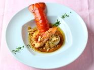 絶品の美味しさ!『オマール海老と帆立貝 パルミジャーノの効いた濃厚リゾットと共に』