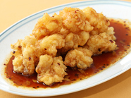 サクッとした食感と香ばしさの融合、『海老の甘辛醤油ソース』